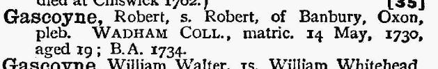 Ancestry.co.uk - Oxford University Alumni, 1500-1886
