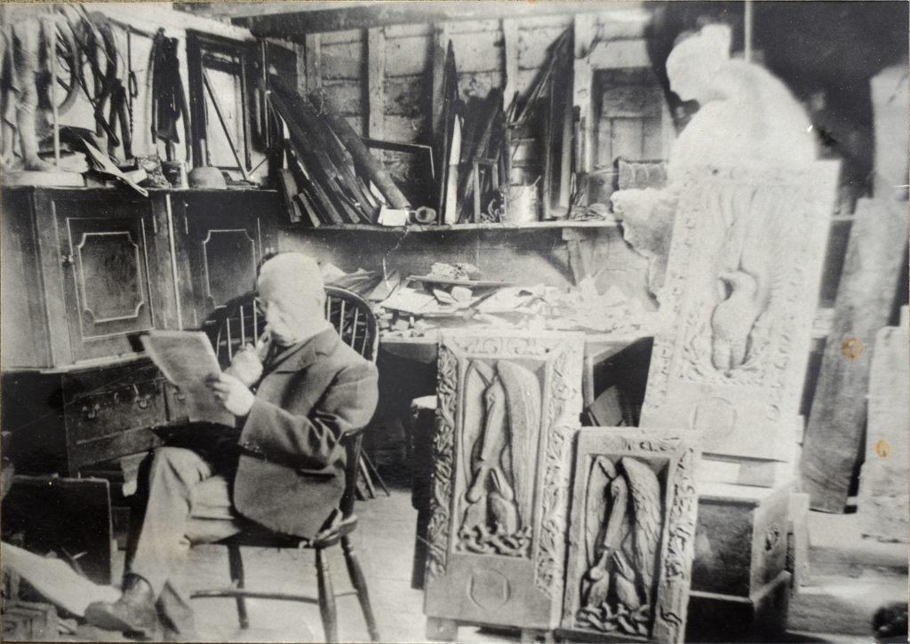 Edward Aveliing Green in his workshop