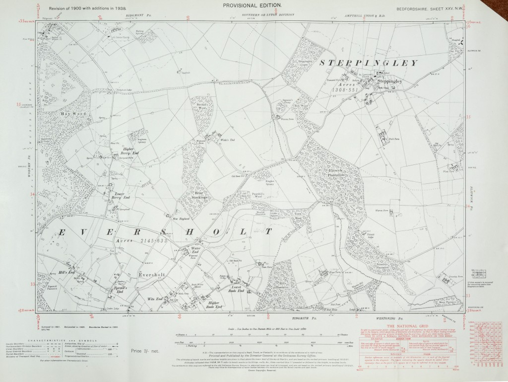 Eversholt 1938 6 inch map