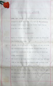 Mary Ann Bunker's 1911 Contract at Linden lodge, page 1