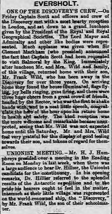 Eversholt. | Luton Times and Advertiser | Friday 23 September 1904 | British Newspaper Archive