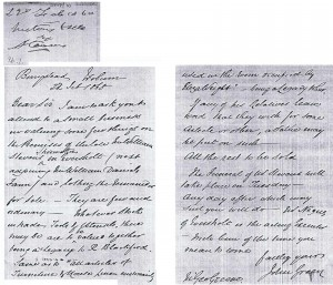 Letter regarding William Steevens