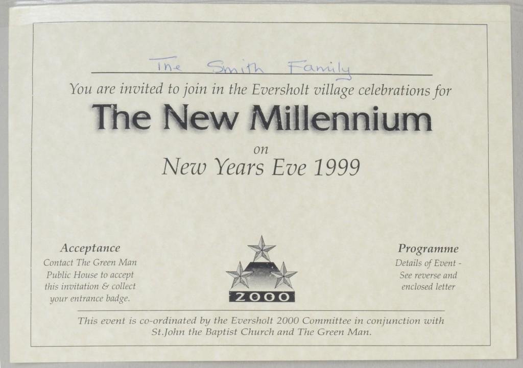 Millennium invitation