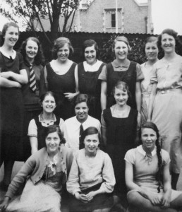 Phoebe aged about 15, in the middle of the back row. It happens that the girl with the long hair sitting at bottom right grew up to be the aunt of Linda Washington, currently our curate!
