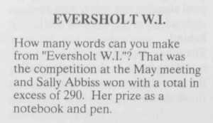About Eversholt, June 1993