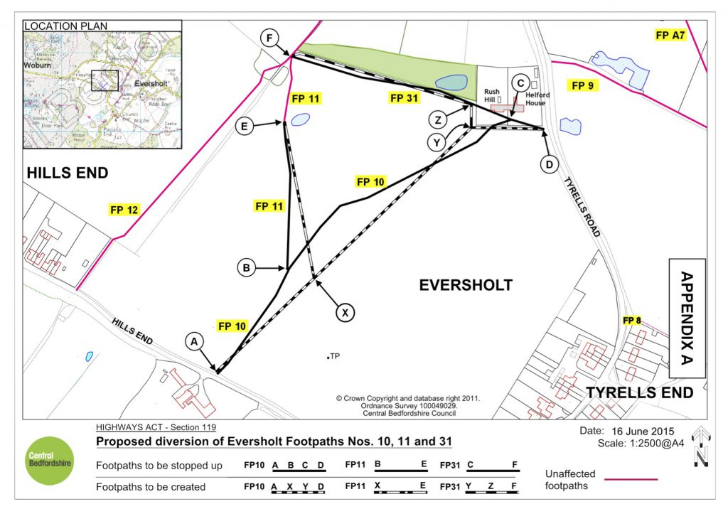 The Final Proposed Footpath Changes