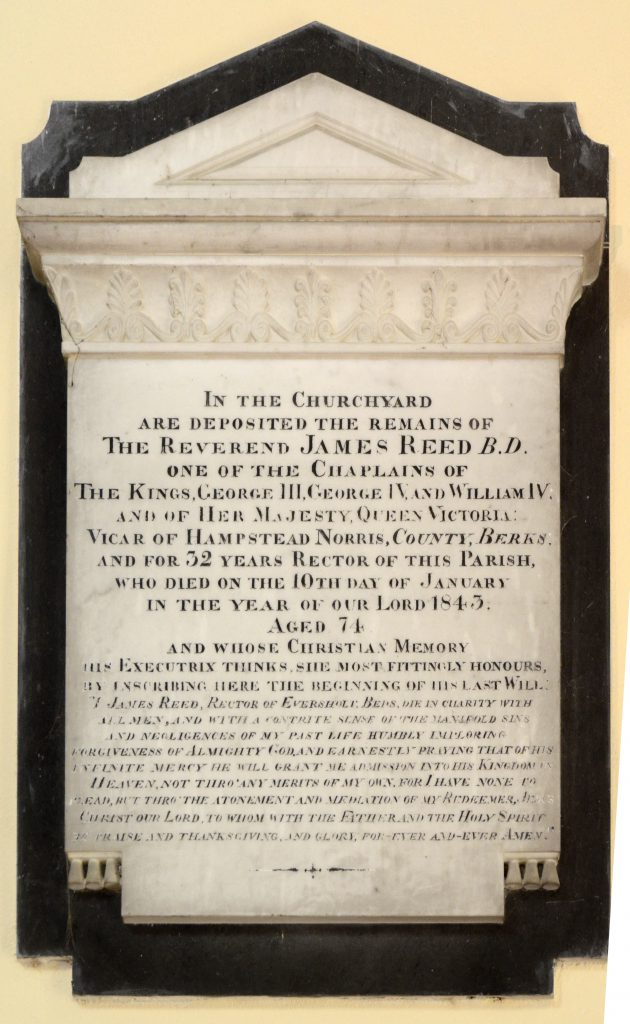 Plaque to James Reed