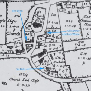 Detail from the 1765 map
