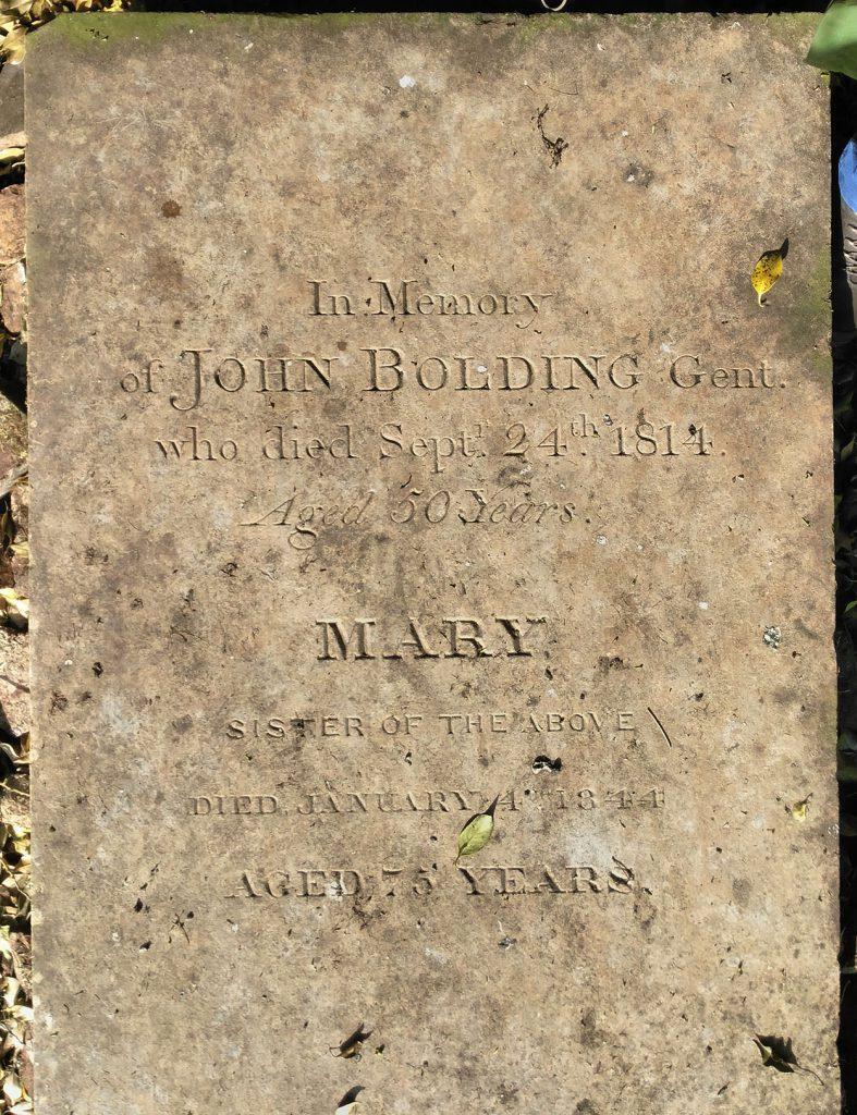 John Bolding grave